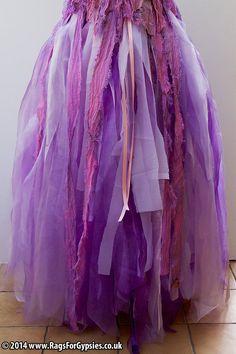 Cinderella Ragged Tattered Skirt to match my Cinderella Corset by RagsForGypsies, £120.00