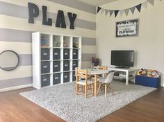Playroom ideas for boys // gender neutral playroom design for kids and organization inspiration
