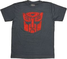 Transformers Autobot Logo Stencil T Shirt Sheer