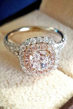 Brilliant Cushion Cut Engagement Rings See more: #weddings