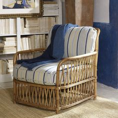 Antibes Rattan Lounge Chair - Chairs / Ottomans - Furniture - Products - Ralph Lauren Home - RalphLaurenHome.com
