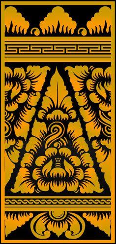 Balinese Lamak Pattern