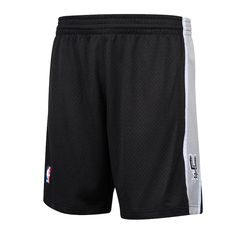 3e9ac030941 San Antonio Spurs Mitchell   Ness Hardwood Classics Team Logo Swingman  Shorts – Black