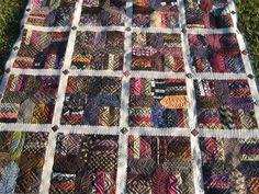 """quilts+made+from+neck+ties   Threads on the floor: Bloggers Quilt Festival """"David's Ties"""""""