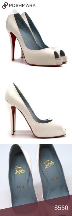 a0961c94430e Christian Louboutin Very Prive 120mm off-wht satin Christian Louboutin Very  Prive 120mm off-