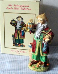 International Santa Claus Figurine Collection NICE OLD FATHER CHINA VINTAGE…