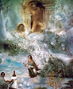 Salvador Dali was an interesting artist. This painting The Ecumenical Council showcases many of the religious scenes and symbols he would incorporate in his work. Cool museum in St. Pete, Florida too.