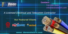 Daven Electric is a licensed and fully insured NYC electrical contractor company located in New York city, Ensuring Quality, Communication and Value. Professional Electrician, Business Names, Budgeting, Nyc, Company Names, Budget Organization, New York
