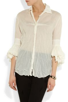 Acne Agatha crinkled cotton shirt