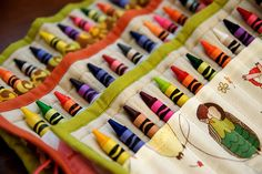 Crayon roll - detail