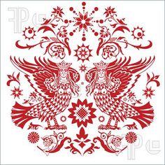 Traditional Slavic needlework design
