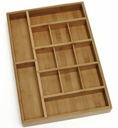 Gallery For Photographers Our Bamboo Adjustable Drawer Organizer is a great customizable drawer organizer for your kitchen craft table