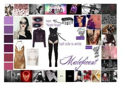 Suc de Squad OC: Maleficent by silentdoll on Polyvore featuring polyvore IRO Wolford POLICE jared fashion style clothing
