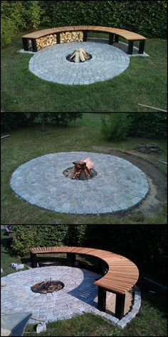 15 Simple DIY Outdoor Firewood Rack Ideas To Make Your Wood Tr .- 15 Einfache DIY Outdoor Brennholz Rack Ideen, um Ihr Holz trocken zu halten – Hause Dekore 15 simple DIY outdoor firewood rack ideas to keep your wood dry # - Diy Fire Pit, Fire Pit Backyard, Backyard Patio, Backyard Landscaping, Backyard Seating, Garden Seating, Landscaping Ideas, Diy Patio, Patio Ideas