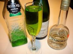 St. Patty's Day cocktail::   The Emerald Cocktail  2 oz pineapple juice  1 1/2 oz vanilla vodka  1 oz midori  1 oz fresh lemon juice  1 oz fresh lime juice  1 oz simple syrup  place in ice filled shaker and shake for ten seconds. pour into martini glass