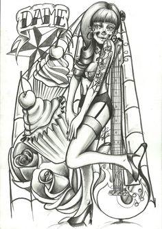 New School Zombie Tattoo Designs | upper arm tattoo by ~Drawn2ink