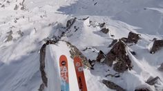 Trip (and Grey)...backcountry ski guides  GoPro: Rocky Cliff Huck In The French Alps