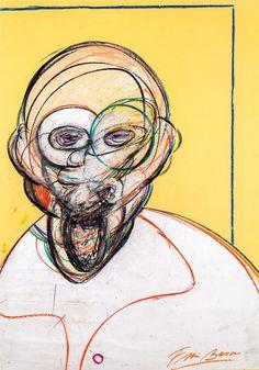 Francis Bacon , Cabeça, 1980-1992, coleção privada, pastel colorido e colagem, 100 x 70 cm(Foto: Divulgação)