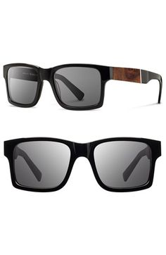 78995e2d3f5d Men's Shwood 'Haystack' 52mm Polarized Wood Sunglasses - Black/ Elm/ Grey  Ray