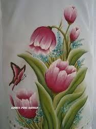 Resultado de imagen para pintura em tecido flores