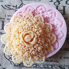 3D Round Flower Silicone Mold Fondant Molds Sugar Craft Tools Chocolate Mould  For Cakes – USD $ 7.99