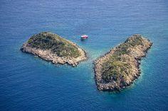 Seven Island, Kas, Anatolia, Turchia