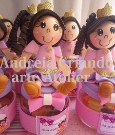 boneca princesinha no potinho de eva