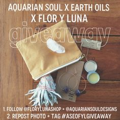 Join us in celebrating our summer 14 collection release (aquarian soul x earth oils) and our shop grand opening (flor y luna) and enter for a chance to win all of this! Follow us on Instagram @aquariansouldesigns and @florylunashop!