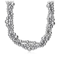 Toursade Bead Necklace in Sterling Silver