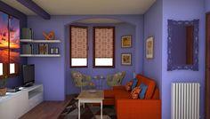 Salon en azul