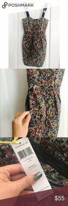 BCBG floral bodycon dress size 2 BCBG floral bodycon dress size 2 - with side pockets! BCBG Dresses Mini