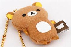 cute Rilakkuma bear plush charm  3
