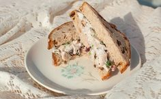 Basil Chicken Salad Sandwiches