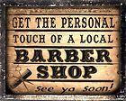 BARBER SHOP sign LOCAL hair salon VINTAGE wall decor display RETRO PLAQUE art