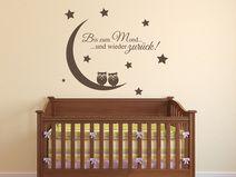 Marvelous Wandtattoo Kinderzimmer Bis zum Mond Spr che