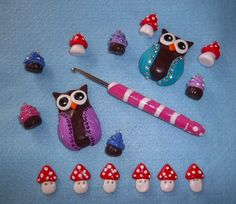 Fimo- particularly like the idea of making a crochet hook handle- just got to think about not melting original handle