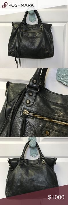 Balenciaga Edge - EUC Balenciaga Edge - EUC - beautiful black goat skin leather. Top handle Bag with detachable cross body! Very light weight Leather! Very minor wear. Perfect addition to any Handbag lovers collection! Gold hardware. Mirror and Dust Bag not included. Balenciaga Bags