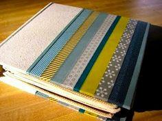 Dress up a plain journal, scrapbook or photo album for an easy gift idea.