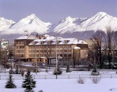 """Poprad:  city in northern Slovakia at the foot of the High Tatra Mountains famous for its picturesque historic centre and as a holiday resort. It is the biggest town of the Spiš region and the 10th largest city in Slovakia, population 55,000. """"For the winter enthusiast, High Tatra and Low Tatra mountains, one of the best destinations for a mountain holiday in Europe. Skiing, night skiing, cross country skiing, snowboarding and sledging are all available."""" Tatra Mountains, Big Town, Holiday Resort, Cross Country Skiing, European Countries, Bratislava, Eastern Europe, Capital City, Amazing Destinations"""