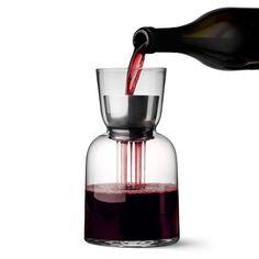 Benjamin Hubert's WW Carafe has an aerator to improve wine's flavour.