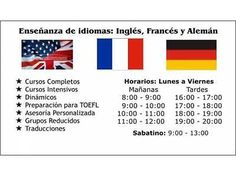 ENSEÑANZA DE INGLÉS, FRANCÉS o ALEMÁN  #Ensenanza, #Ingles, #Frances, #Aleman
