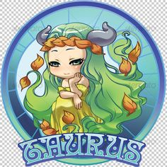 Taurus Zodiac - Characters Illustrations