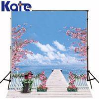 10*6.5Feet(300*200Cm) Photography Backdrops Photography Background Fotografia Photo Background Bridge Potted Trees