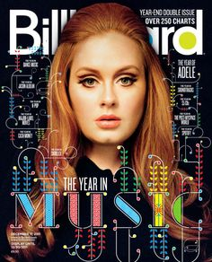 "MULTIPLE COLORS:This magazine stood out not because of the large head covering most of the cover but because of the coloring of letters in the word ""music"" that are very eye popping."
