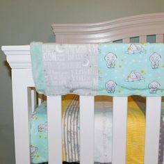 Sleeping Dumbo Baby Bedding crib quilt crib sheet crib rail