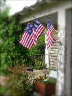 Notforgotten Farm: After the rains ~ Americana I Love America, God Bless America, America America, A Lovely Journey, Patriotic Pictures, Flag Holder, Patriotic Decorations, Patriotic Crafts, Patriotic Party