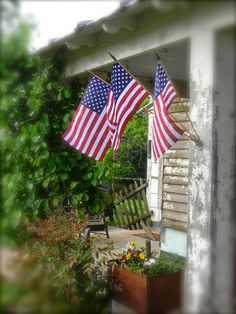 Notforgotten Farm: After the rains ~  Triple flag holder ~ need to find one of these!