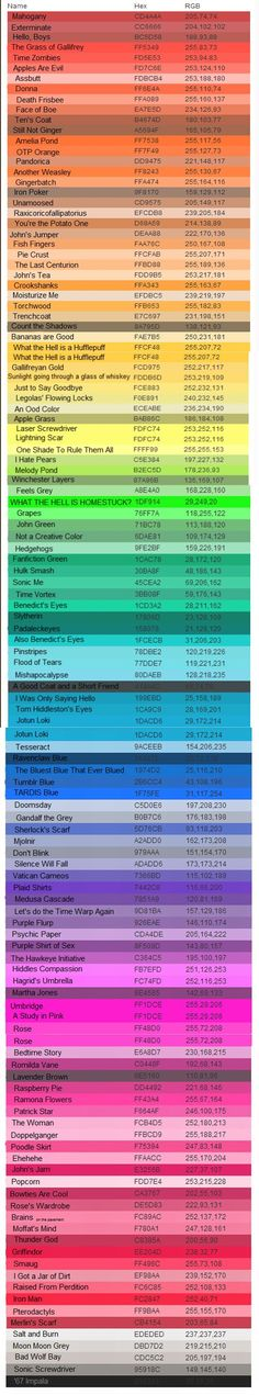 A tumblr user found every color crayola has made and renamed them based on popular fandoms.