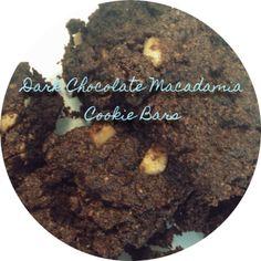 dark chocolate macadamia cookie bars theshrinkingviolet.co.nz