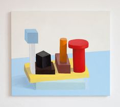 Square paintings by Nathalie Du Pasquier